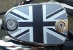 "Bonneville Thruxton T100 & Scrambler. Brake Fluid Cap ""Union Flag Logo"" Chrome MONO/MATT."